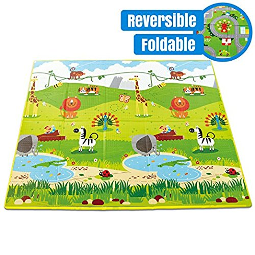 Hape Baby Folding Play Mat For Floor Reversible Thick