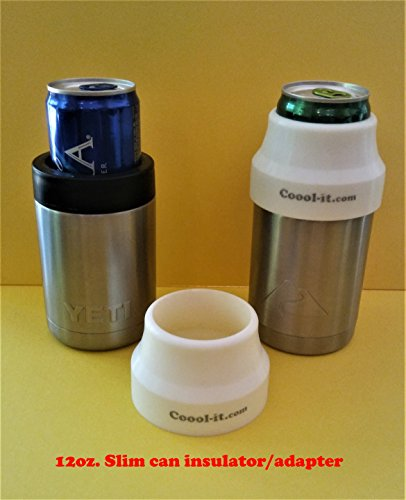 706ac25a8f3 Coool-it,silicone insulator adapter for TALL 12oz SLIM CANS. Convert  Yeti,Cold Keeper, RTIC,and Ozark Trail stainless can coolers.Slim can  insulator.